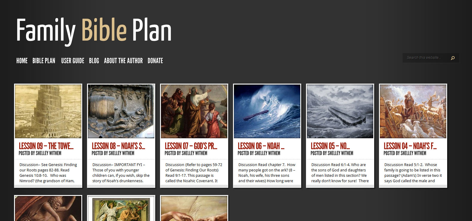 Side Project: The Family Bible Plan