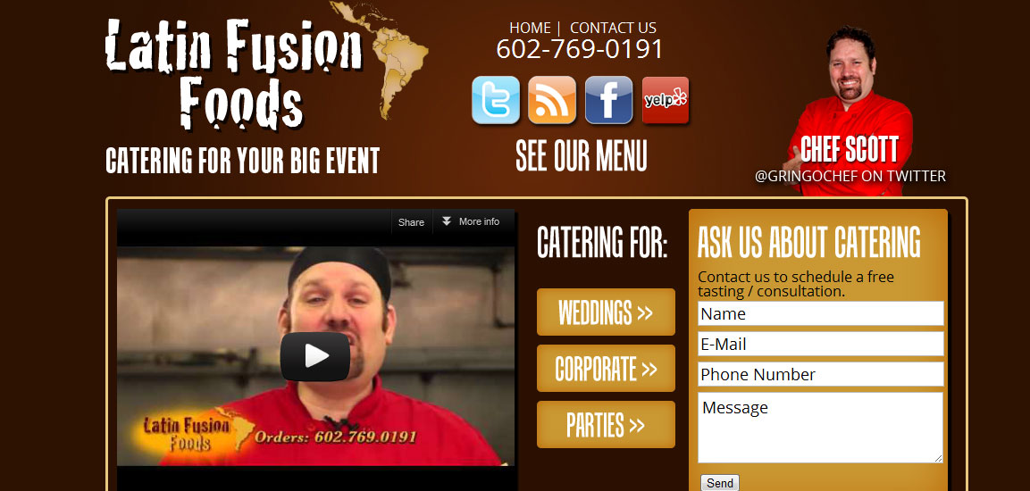 Site Launch: Latin Fusion Foods
